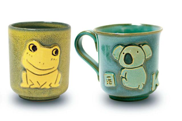 滋賀布引焼陶芸七彩天目ならではの色合いマグカップに立体的な